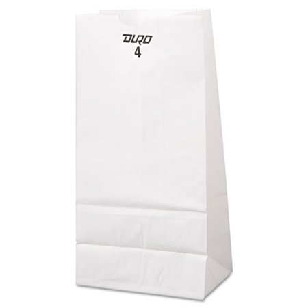 White Paper Bags (Duro 51004 CPC 4 lbs Grocery Bag, White - Case of)