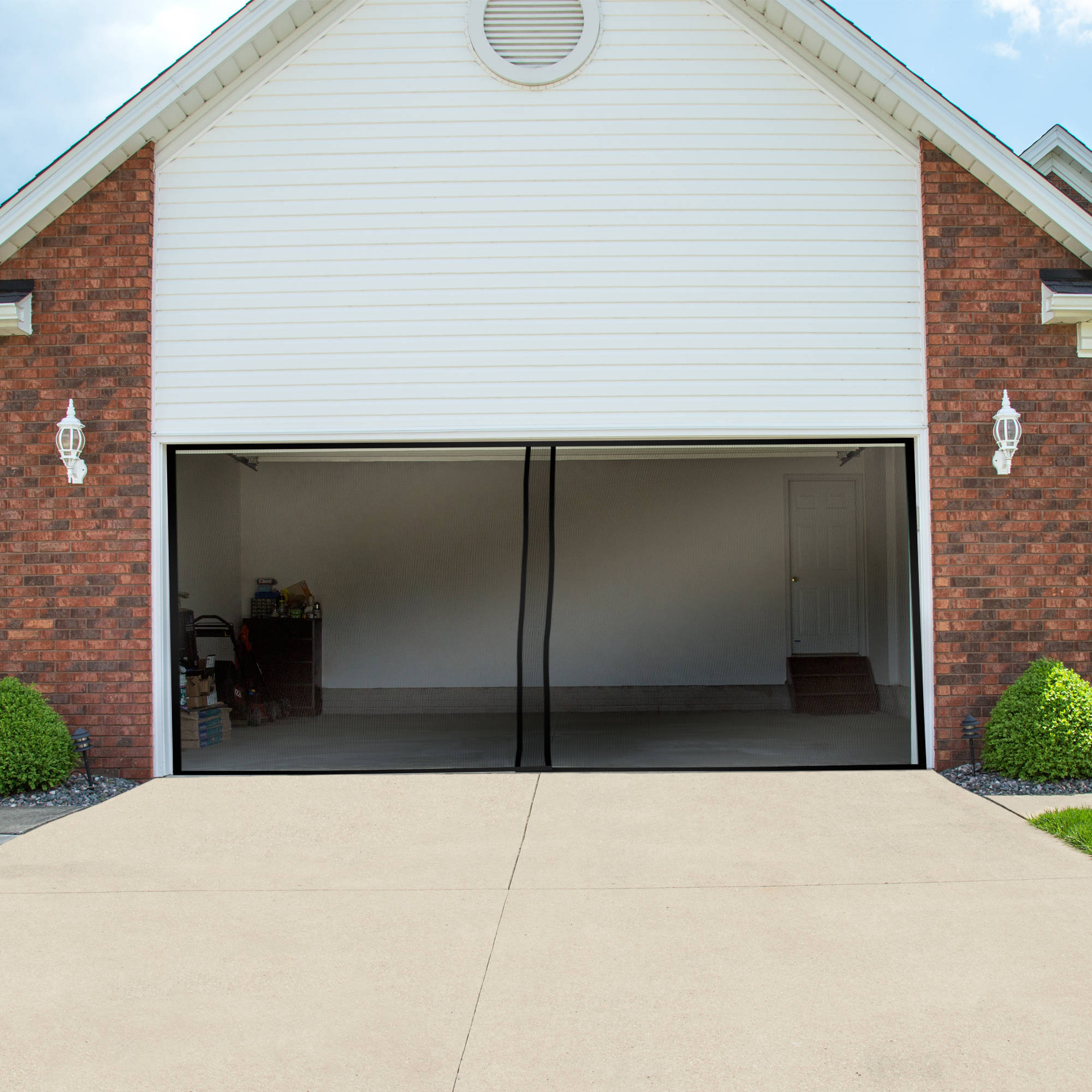 my doors using pin a screened do pinner screen idea room size i one car door in then framed garage to carport basic turned the trimmed