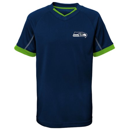 Youth College Navy Seattle Seahawks Pin Dot V-Neck T-Shirt (Seattle Seahawks Shirt)