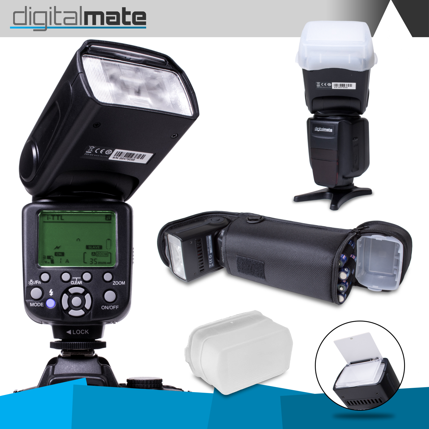 DigitalMate SB680 E-TTL Flash Kit for NIKON DSLR D7200 D7000 D5500 D5300 D5200 D5100 D5000 D3300 D3200 D3100