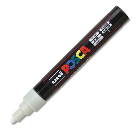Uni-Posca Paint Marker - White, Bullet Tip, 2.5 mm