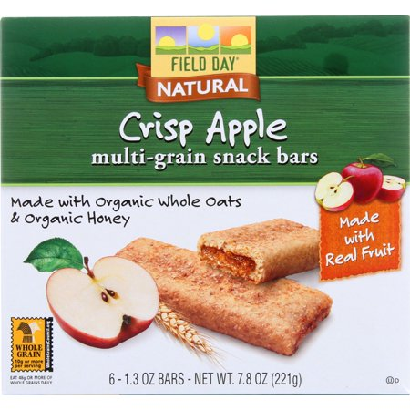 Field Day Snack Bars - Organic - Multi-Grain - Filled - Crisp Apple - 6/1.3 oz - case of 6