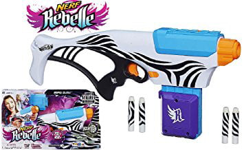 Nerf Rebelle Super Stripes Collection Exclusive Rapid Glow Blaster by