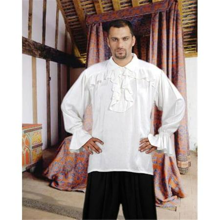 The Pirate Dressing C1108 Francis Drake Pirate Shirt, White - 2XL