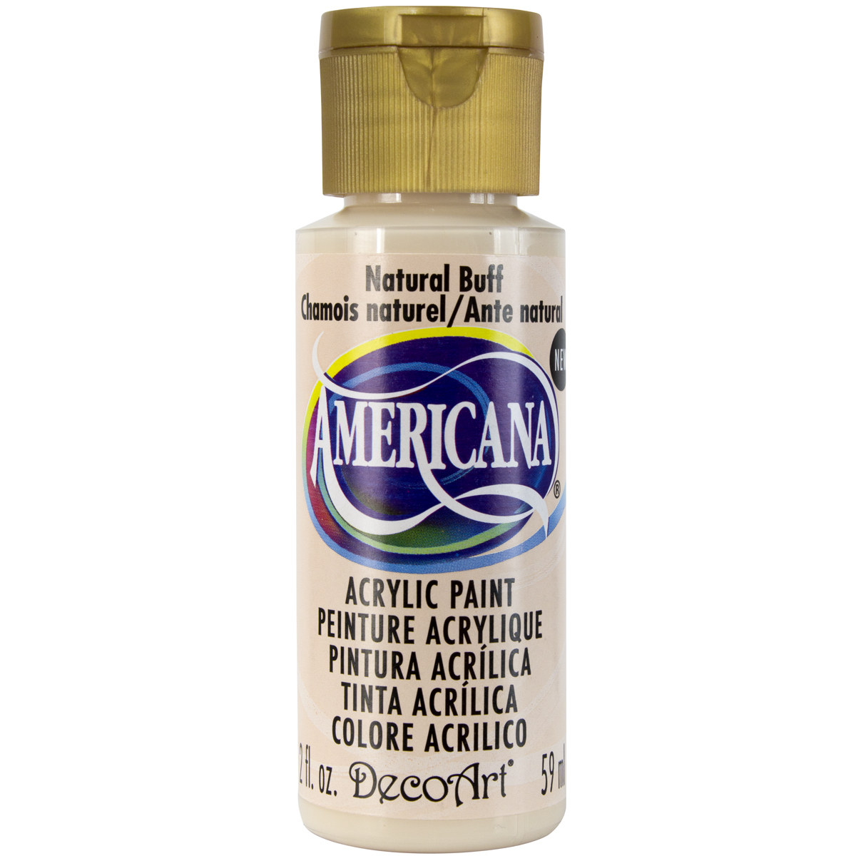 Americana Acrylic Paint 2oz-Natural Buff - Opaque