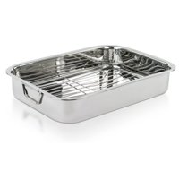 Product Image Imperial Home 16 Stainless Steel Heavy Duty Roasting Pan With Rack