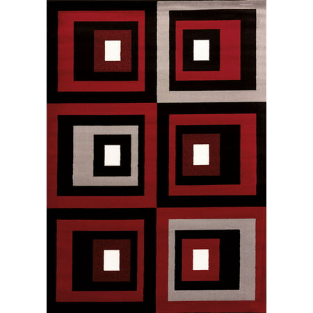 Westfield Home Cristall Shakira Red Area Rug (5' 3 x 7' 2)