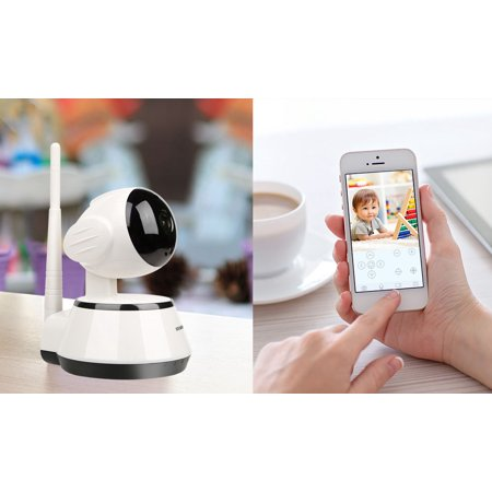 Kocaso Wireless Hd Baby Monitor Home Ip Surveillance Wifi Or Wired Security Camera With Rotating Head   Infrared Light Mode Wall Mountable