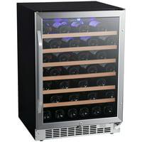 """EdgeStar CWR532SZ Stainless Steel 24"""" Wide 53 Bottle Built-In Single Zone Wine Cooler"""