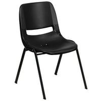 Flash Furniture HERCULES Series 880 lb Capacity Ergonomic Shell Stack Chair, Multiple Colors