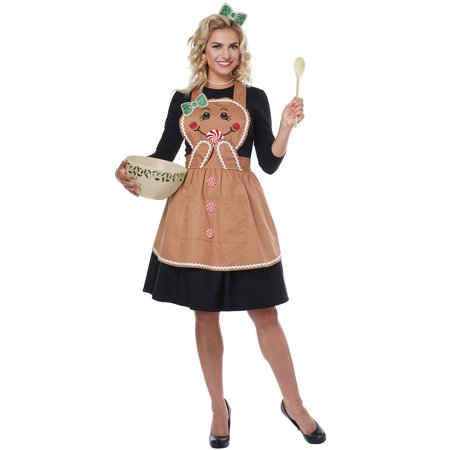 Gingerbread Apron Adult Costume (Gingerbread Costumes For Adults)