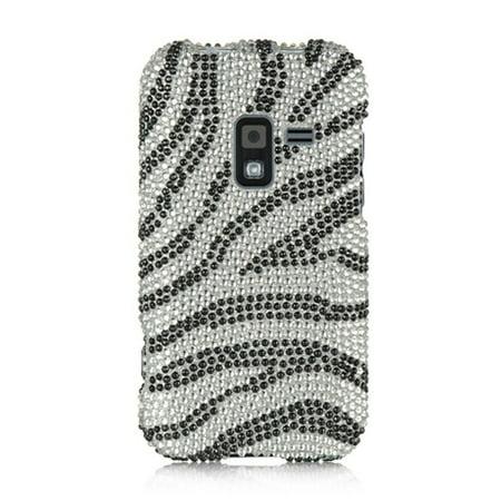 DreamWireless FDSAMR920SLZ Samsung Galaxy Attain 4G & R920 Full Diamond Case Silver (Zebra Full Diamond)