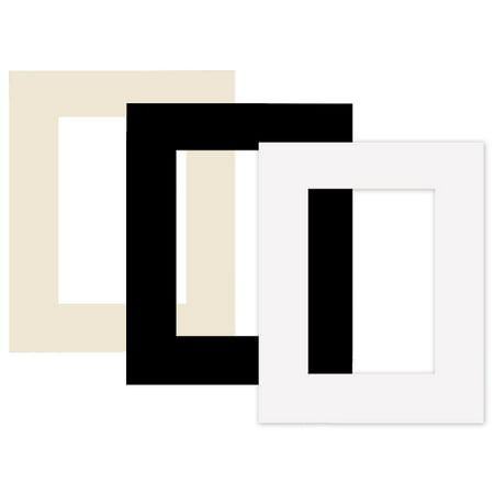 Single Designer 8x10 Mat w/5x7 Opening - White