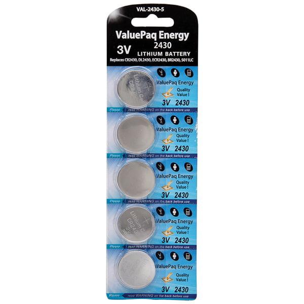 Dantona[r] Val-2430-5 Valuepaq Energy 2430 Lithium Coin Cell Batteries, 5 Pk