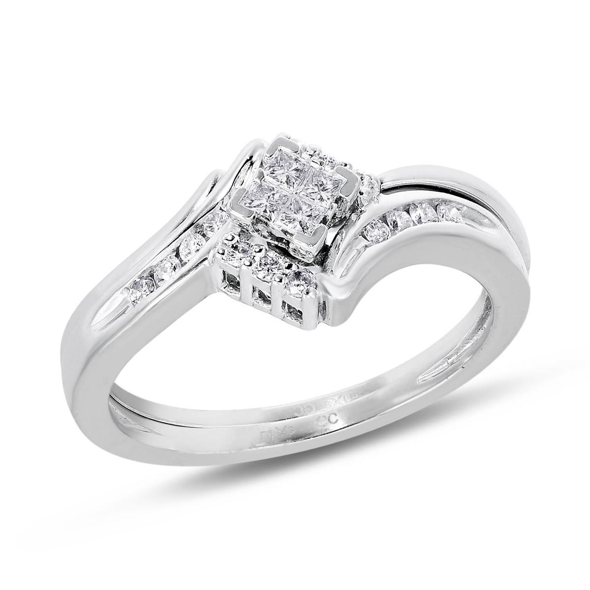 Lux-3 I2 Diamond Bridal Set, 1/4 ctw