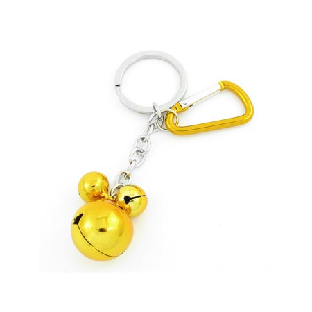 Gold Tone Metal 3 Bells Pendant Aluminum Carabiner Keychain Backpack Decoration](Backpack Keychains)