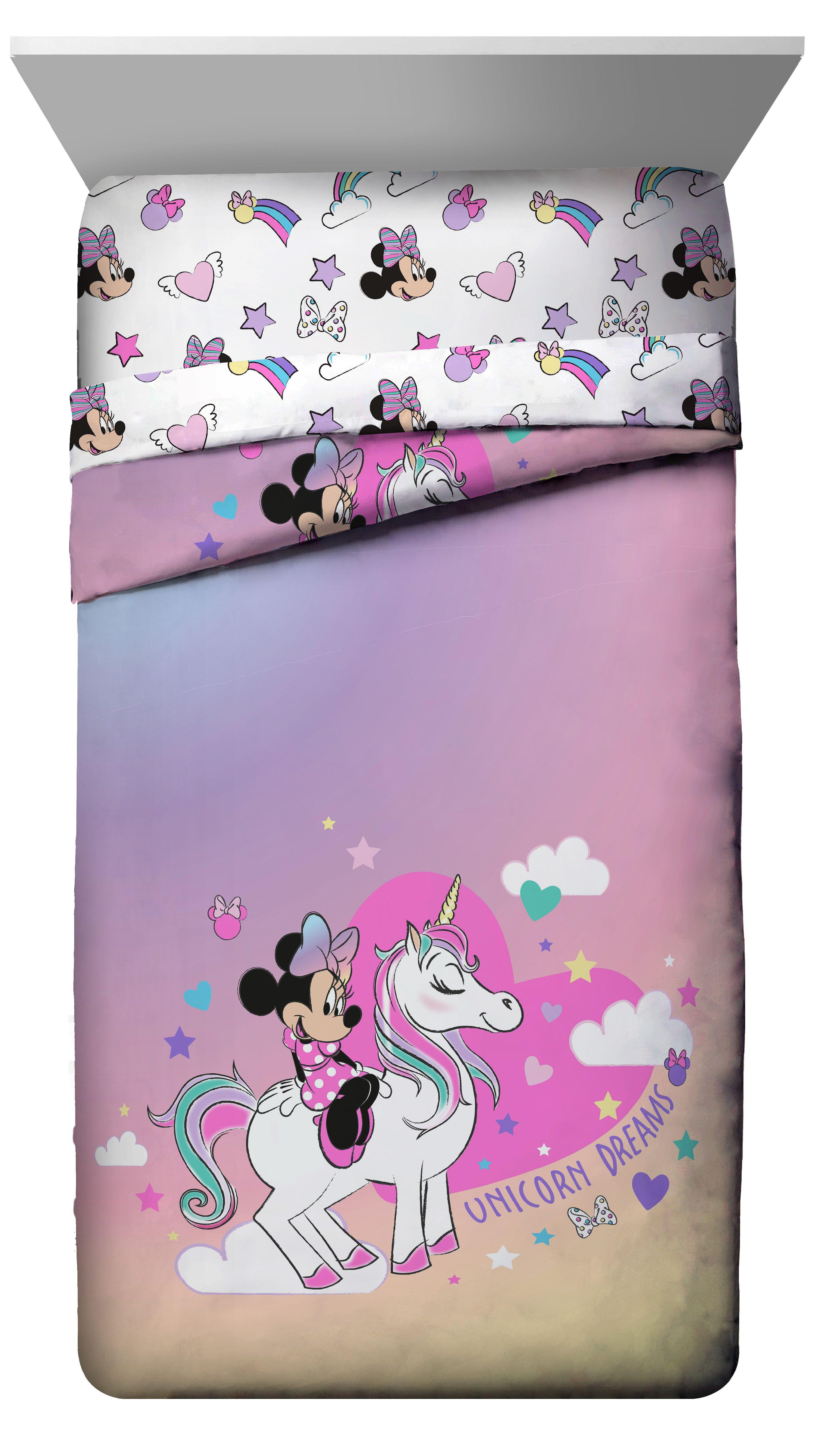 Personalised Minnie Mouse Unicorn Dreams Beach Towel