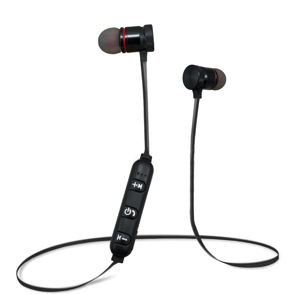 Acuvar Wireless Magnetic Rechargeable Earbuds with in line mic and volume controls (Black) - image 7 of 7