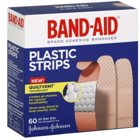 BAND-AID Plastic Strips All One Size 60 Each