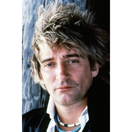 Rod Stewart Spiky Hair Close Up Portrait Circa Late 1970's 24x36 - 1970's Hair