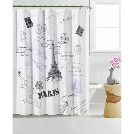 Mainstays Paris 13 Piece Shower Curtain And Decorative