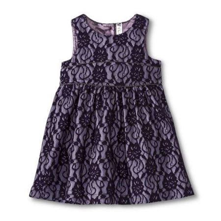 Cherokee Toddler Girls Purple Lace Party Dress Holiday Outfit