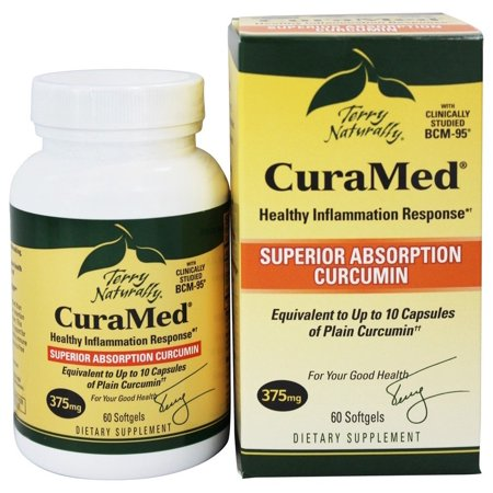 EuroPharma - Terry Naturally CuraMed with BCM-95 375 mg. - 60 (Terry Naturally Curamed 750 Mg 120 Softgels)