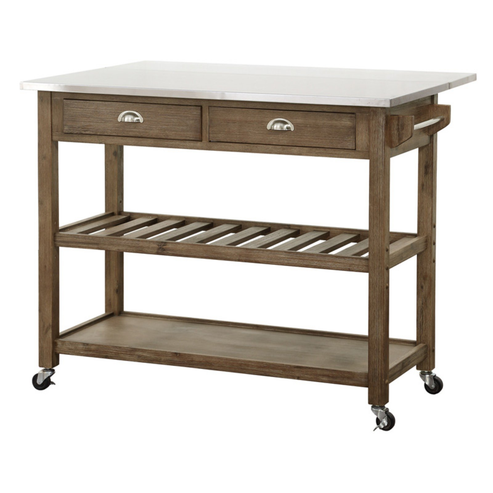 boraam drop leaf kitchen cart stainless steel walmart com rh walmart com kitchen carts with drop leaf or pull out kitchen carts with drop leaf or pull out