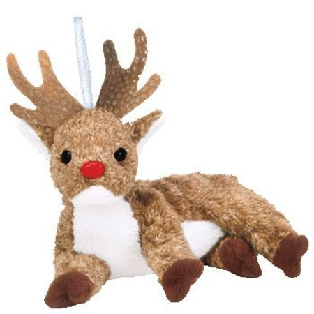 TY Jingle Beanie Baby - ROXIE the - Baby Reindeer For Sale