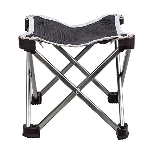 G4FreeKid's Portable Stool Ultralight Anti-slip Folding Stool Chair, Silver, NEW