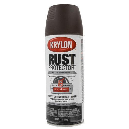 Krylon Earth Rust Protector Enamel Spray Paint Satin (Set of 6)