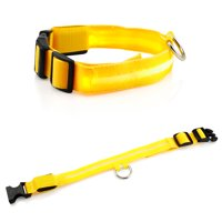 Large LED Lights COLOR Light Up Pet Dog  Night Safety Waterproof Nylon Neck Adjustable Collar