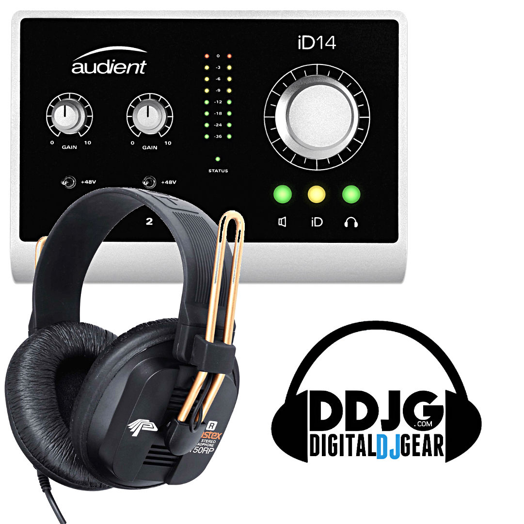 Audient iD14 USB Audio Interface w/ Fostex T50RP Headphones - Free Shipping