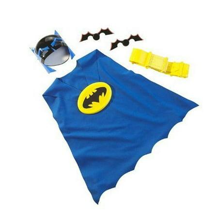Batman Caped Crusader Dress Up Costume Kit - Includes Mask, Cape, Utility Belt and 2 Batarangs](Batman Utility Belts)