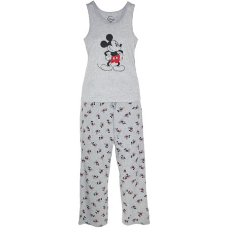 Mickey Mouse Women's Tank and Pant Pajama - Mickey Mouse Pajamas