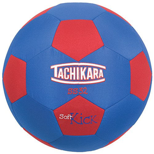 SS32 Soft Kick Fabric Soccer Ball, Blue Red, This ball is sold and shipped deflated. By... by