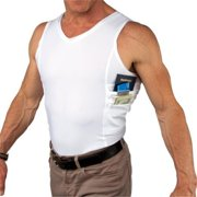UTUC TS0823WH-S Travel Safe Mens Tank Top, Small
