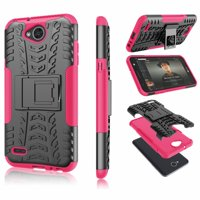 Tekcoo Cases Kickstand for LG Stylo 4 / Stylo 3 / Q Stylus / Stylus 3 / Stylus 4 / Q Stylo / Stylo 4 Plus, Shock Absorbing Defender Heavy Full Body Kickstand Carrying Armor Protective Cases Cover