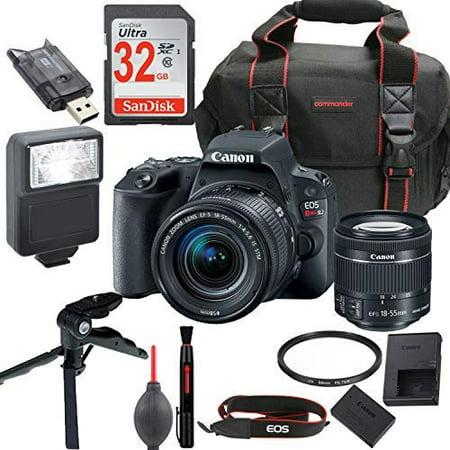 canon eos rebel sl2 dslr camera kit with ef s 18 55mm stm lens wifi enabled. Black Bedroom Furniture Sets. Home Design Ideas