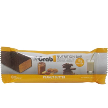 Grab1 Kosher Nutrition Bar 15g Protein Peanut Butter Dairy Cholov Yisroel - 1 Bar