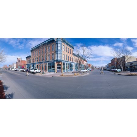 Walnut   Linden Streets Fort Collins  Inspired Disneylands Main St Usa  New York Canvas Art   Panoramic Images  27 X 9
