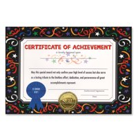 Certificate Of Achievement (Pack of 6)
