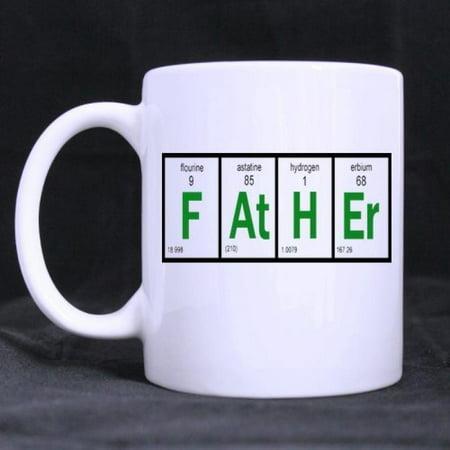 Father Periodic Table Of Elements Mug Custom White 11 Oz Coffee Or Tea