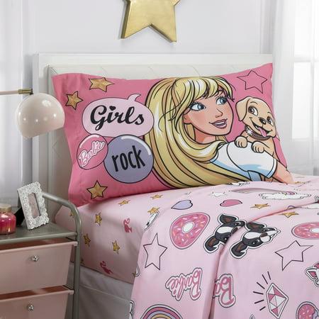 Barbie Sheet Set, Kids Bedding, BFF Crew (Barbie Halloween Coloring Sheets)