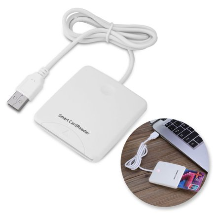 Supersellers Portable Smart USB Chip Card Reader Encoder Writer with SIM Slot for Windows for 2000 XP or Mac OS X