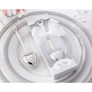 Kate Aspen Tea Time Heart Tea Infuser in Elegant White Gift Box - Set of 6 - Hostess Gift, Guest Gift, Party Souvenir, Party Favor or Decorations for Weddings, Bridal Showers, Baby Showers & More