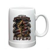 Erazor Bits American Soldier 20oz Stoneware Coffee, Beverage Mug