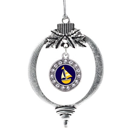 Sailboat Circle Holiday Ornament