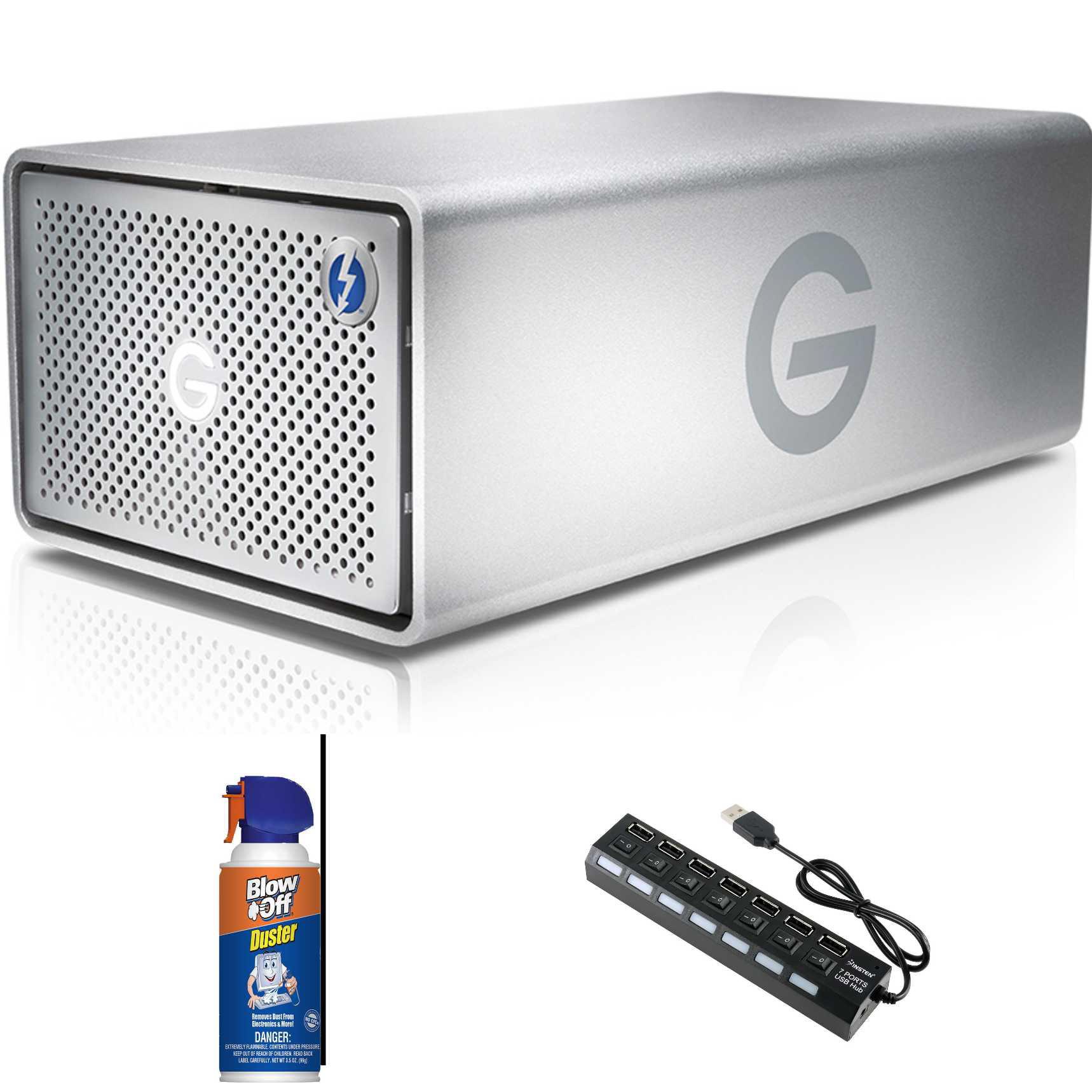 G-Technology 8TB G-RAID Thunderbolt Removable Dual Drive Bundle