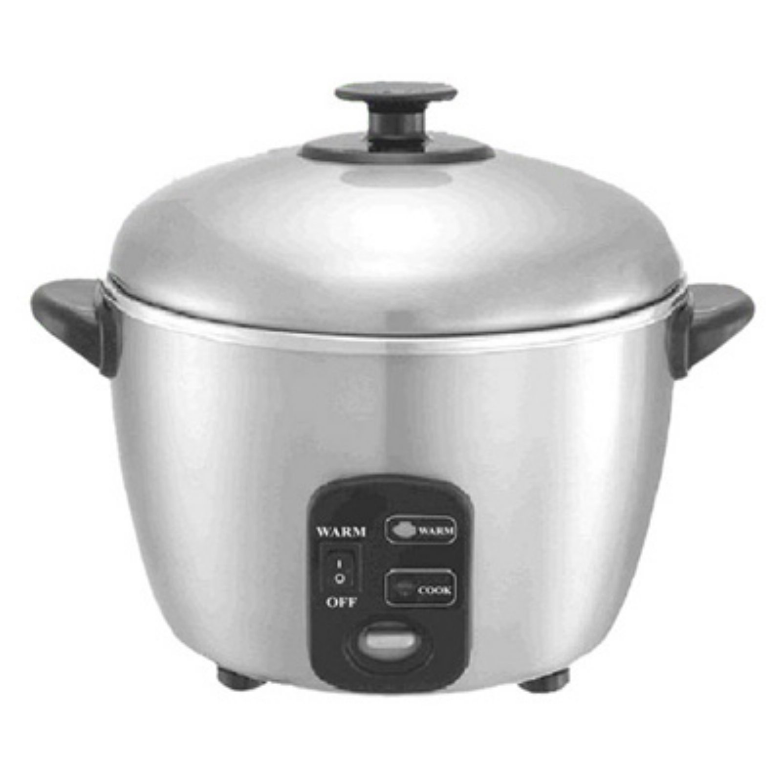 Sunpentown SC-887 6 Cup Stainless Steel Rice Cooker and Steamer